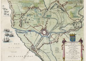 Old map of Grevelingen by Joan Blaeu, 1649