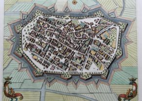 Old map of Lucca by Pierre Mortier, 1705