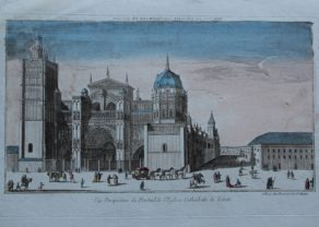 Toledo (cathedral), optica print by Daumont