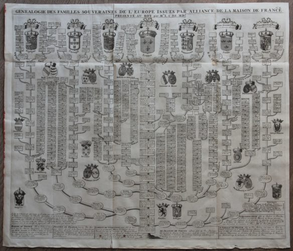 Genealogy of European Royal families linked to France, Chatelain, 1707