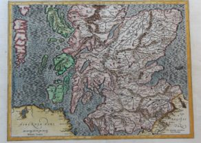 Old map of southern Scotland by Mercator and Hondius