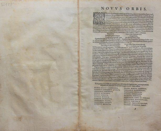 Old map of The Americas (Americae sive novi Orbis nova descriptio) (verso) by Ortelius 1595