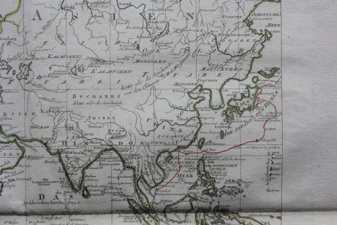 Travels and discoveries by James Cook (Eastern Hemisphere: South East Asia), 1789, by Roberts and Schraembl