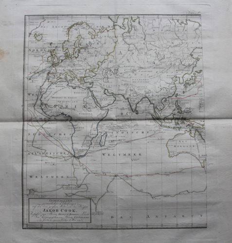 Travels and discoveries by James Cook (Eastern Hemisphere), 1789, by Roberts and Schraembl