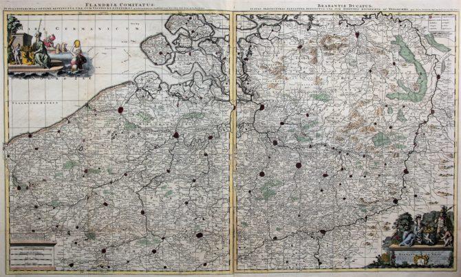 Flandria comitatus et Brabantiae ducatus, Schenk, ca. 1700