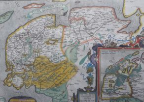 Old map of Frisia occidentalis (West Friesland) by Ortelius
