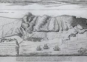 Old map of Gibraltar by Claude Du Bosc, 1735