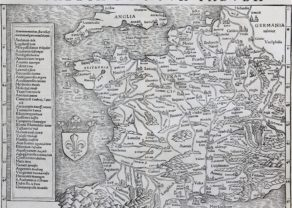 France - Gallia III Nova Tabula, Sebastian Münster (after 1540)