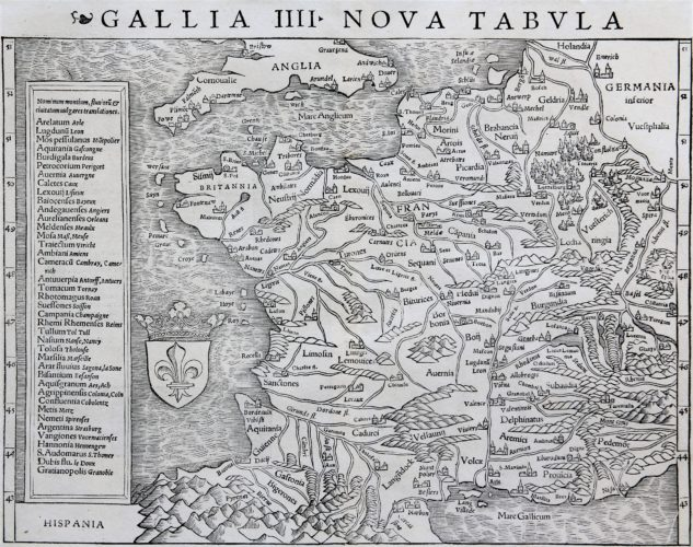 France - Gallia III Nova Tabula, Sebastian Münster (after 1540)