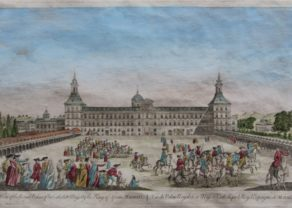 Optica print Madrid, Royal Palace, N.N., 1780