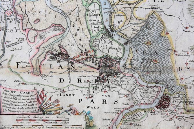 Pieter Verbiest Scheldt river (war scene), 1638
