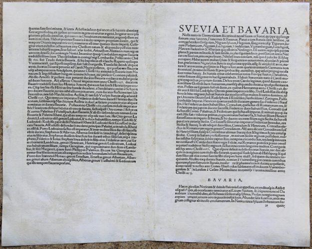 Upper Danube and Upper Rhine - Suevia et Bavaria XI Nova Tabula (verso)