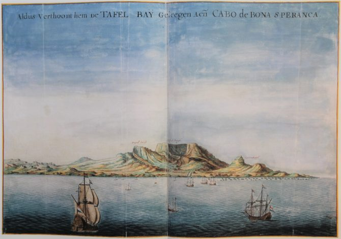 Vingboon's Atlas on Dutch East and West Indies (V.O.C. & W.I.C.) Cape of Good Hope 1621-1650