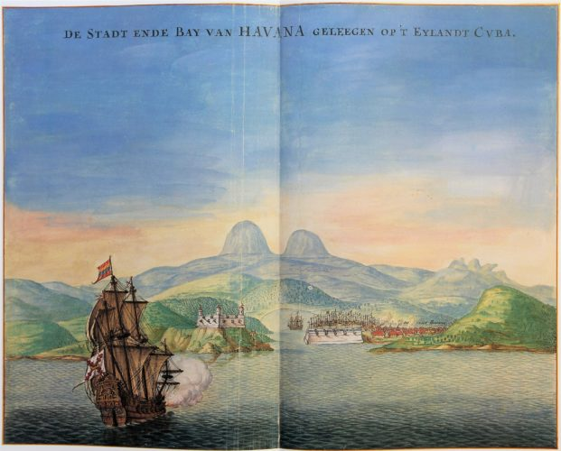 Vingboon's Atlas on Dutch East and West Indies (V.O.C. & W.I.C.) Havanna 1621-1650
