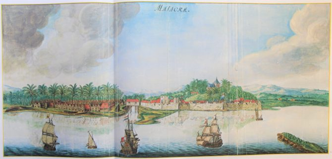 Vingboon's Atlas on Dutch East and West Indies (V.O.C. & W.I.C.) Malacca 1621-1650