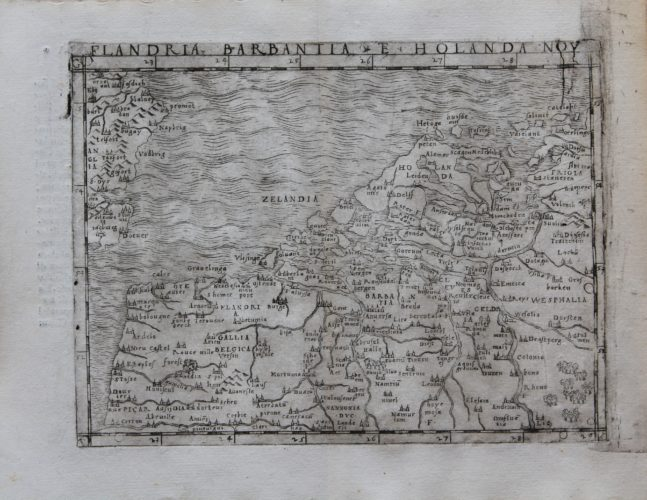 One of the oldest maps of the Low Countries by Gastaldi, 1548