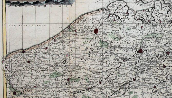 Flandria comitatus et Brabantiae ducatus (Flanders), Schenk, ca. 1700