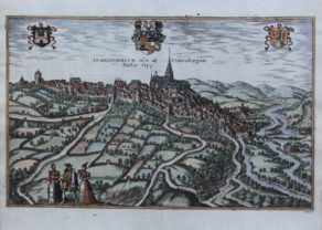 Old map of Frankenberg on the Eder by Braun and Hogenberg, 1581