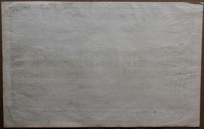 Optica print of Fredericksberg (Copenhagen) (verso) by Casper Wüst, 1746