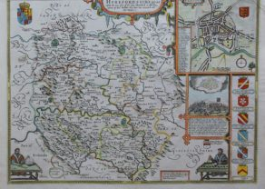 Old map of Herefordshire by John Speed, 1676