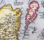 Old 16th century map of Asia (detail of Japan) by Ortelius, published in his Theatrum Orbis Terrarum in 1598 (Dutch edition)