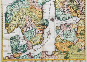 Old map of Scandinavia and the Baltics by Henri Chatelain, 1719, Atlas Historique