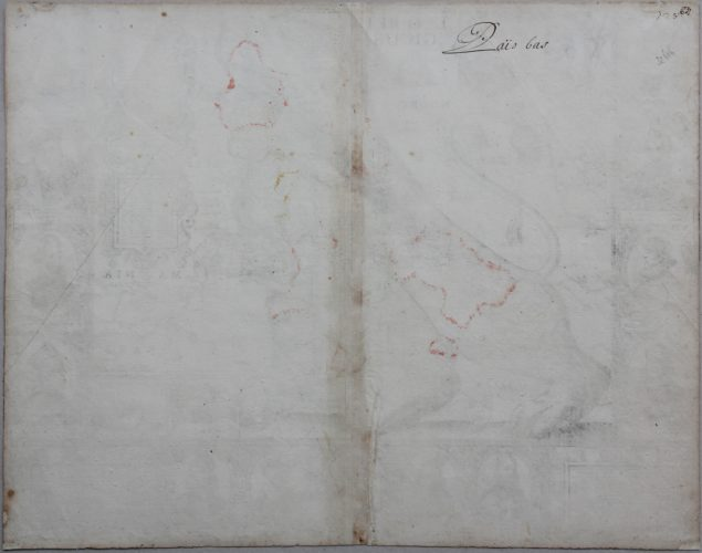 Unique and unrecorded map of the Leo Belgicus by C.J. Visscher, 1641 (verso)