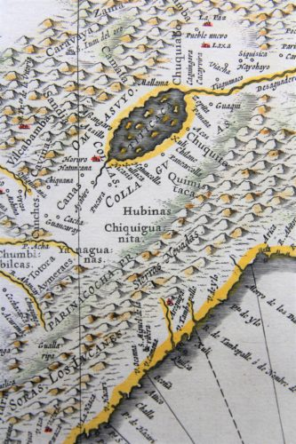 Old map (17th century) of Peru (detail) by Joan Blaeu
