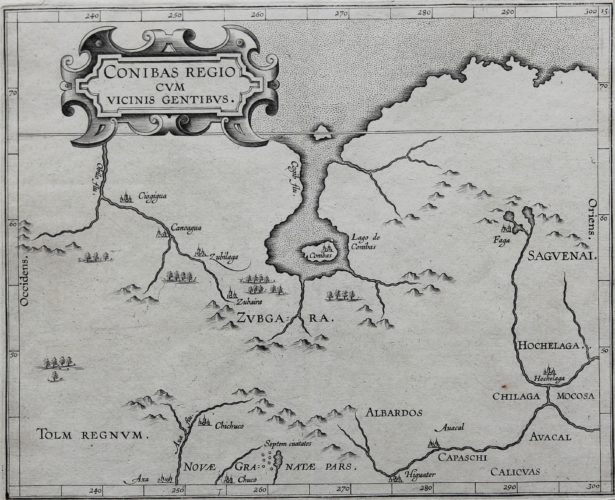 Old original map of Central Canada by Wytfliet