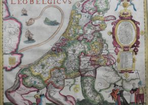Old map of the one and only Leo Belgicus by Kaerius 1617