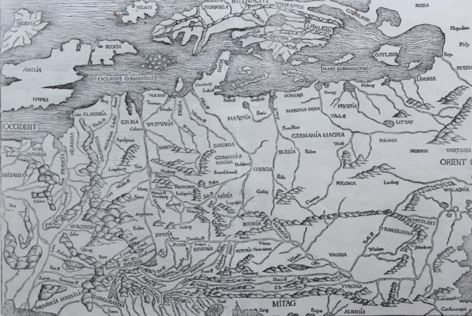 One of the oldest maps of Europe by Hartman Schedel, 1493