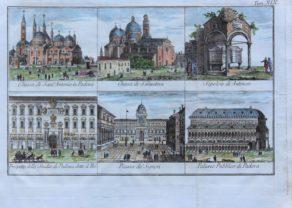 Six views of buildings in Padova (Padua) by Tommaso Salmon 1755