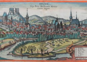 Old 16th century of Brno (Brunn) by Braun and Hogenberg