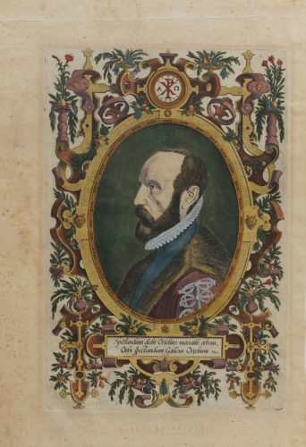 Old portrait of Ortelius by Galle