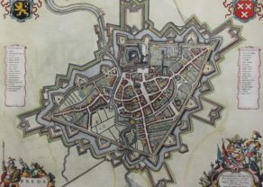 Old city map of Breda by Joan Blaeu, 1652