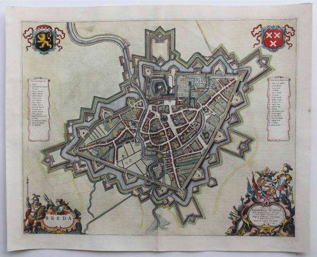 Old map of Breda by Joan Blaeu, 1649/1652
