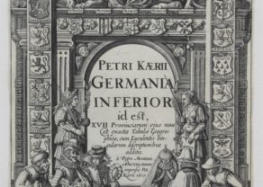 Old title page of Germania Inferior by Kaerius, 1617