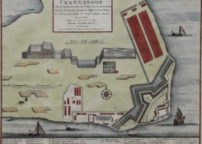Old view of VOC settlement Kodungallor (Crangagore, India), by Valentyn, 1724-1726