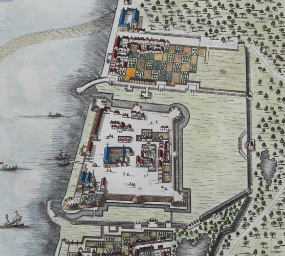 Old view of Jaffna of Jaffenapatam by Valentyn, 1724-1726