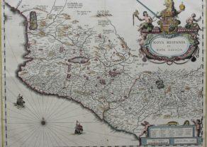 Old map of Mexico (Nova Hispia) by Blaeu family, 1634