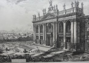 Superv etching of the archbasilica of Saint John of Lateran in Rome by Piranesi, 1670-1778