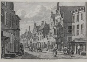 Old view of HQ of Dutch West India Company (WIC) in MIddelburg by Bendorp, 1793