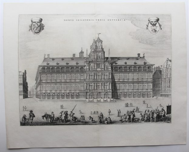 Old view of the Antwerp Town Hall by Joan Blaeu