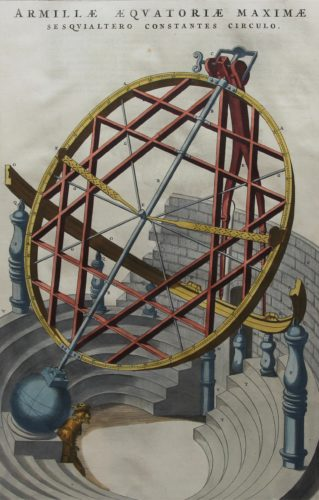 Old large view of an armillaria sphere by Joan Blaeu