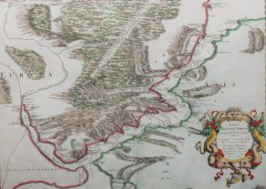 Superb old and rare map of the Bosphorus in Turkey by Sanson, 1666