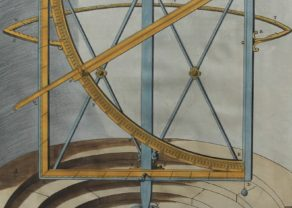 Old view of quadrant instrument by Blaeu