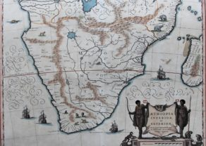 Superb old map of Southern Africa or Aethiopia inferior, by Blaeu 1635