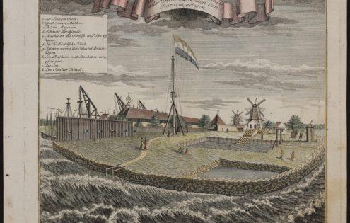 Old view of Onrust, VOC post outside Batavia