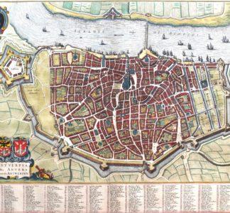 Old map Antwerpen by Joan Blaeu, 1649
